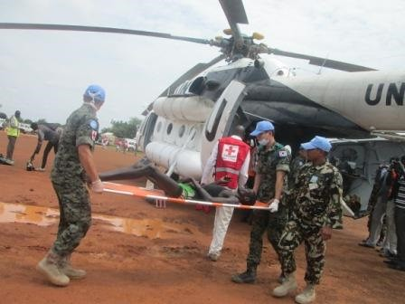 Republic of South Sudan evacuation by the United Nations on December 19, 2013. The UN office in Bor, Jonglei was overrun. by Pan-African News Wire File Photos