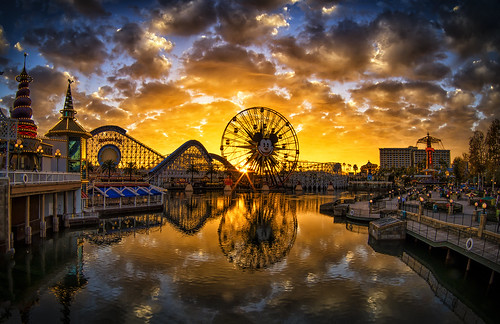 Golden Hour On Paradise Pier