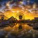 Golden Hour On Paradise Pier by WJMcIntosh