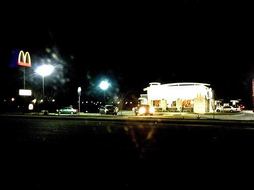 Golden Arches in the dark