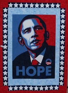 Obama Hope Quilt~Quilt by Corinna Weir
