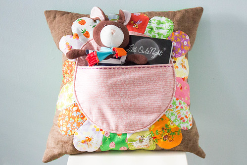 Petal Pocket Pillow All Filled Up