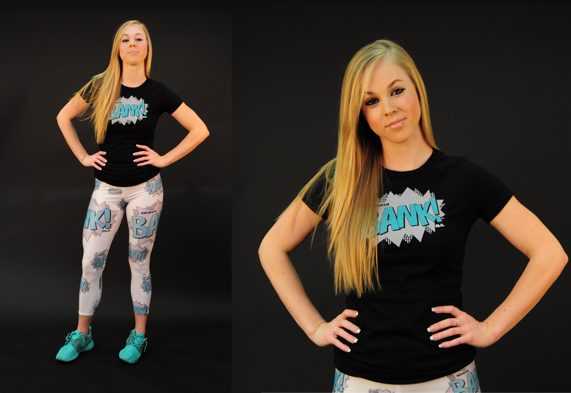 Broken Bank Retro Print and leggings