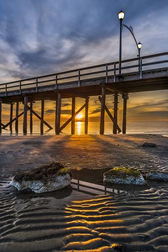 White Rock Beach Pier at sunset