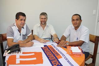 Carlos Balado, em visita ao Solidariedade-SP