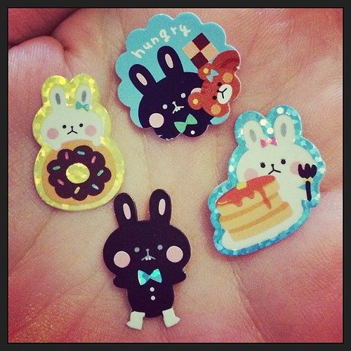 Sad hungry bunny stickers!