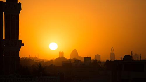 sunset khartoum
