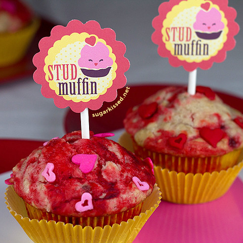 Free Valentine's Day Printable Muffin Toppers