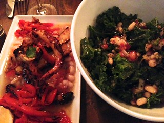 Kale Salad and Octopus with Limoncello Sauce Appetizers