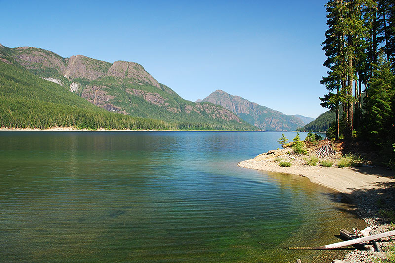 Buttle Lake, Strathcona Provincial Park, Central Vancouver Island, British Columbia, Canada