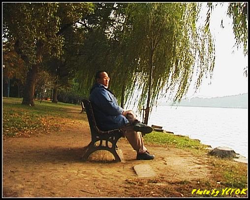 杭州 西湖 (其他景點) - 263 (在西湖十景之 蘇堤 右面是西裡湖 黃昏景)