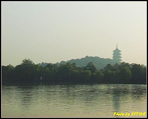 杭州 西湖 (其他景點) - 312 (在西湖十景之 花港觀魚 看雷峰塔 日落黃昏景)