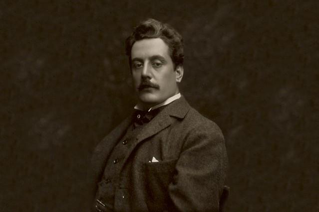Giacomo Puccini photographed by Studio Bertieri, 1907