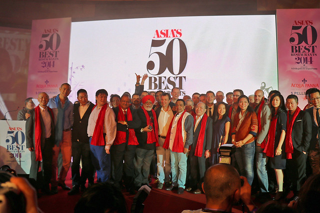 All the stars of the Asia's 50 Best Restaurants up on stage