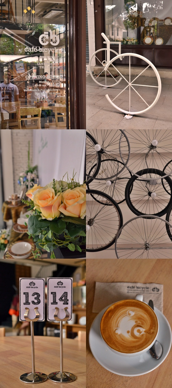 Collage Bicycle Cafe Bangkok