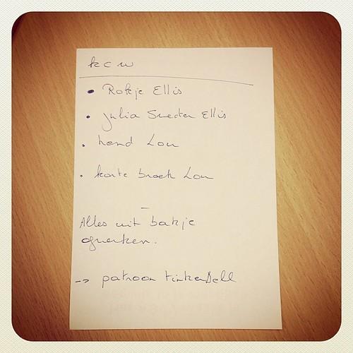 Het #kcw lijstje, maar eerst werkdag. Start!