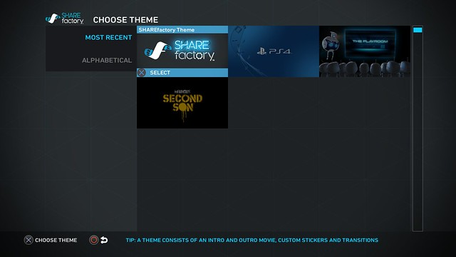 PS4 Sharefactory Choose_Theme