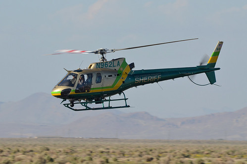 Los Angeles County Sheriff Helicopter A Pass Before