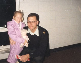 Brittny Flint-5 years old with Dad when he left for Germany