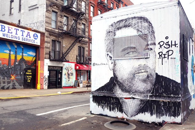 New York street art Lower East Side Philip Seymour Hoffman memorial