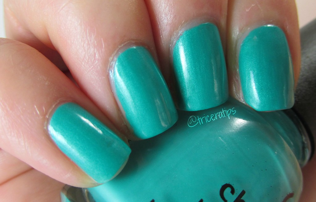 Turned Up Turquoise, trying to show off the shimmer