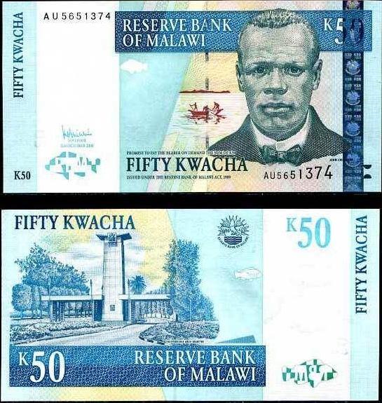 50 Kwacha Malawi 2003-7, Pick 45