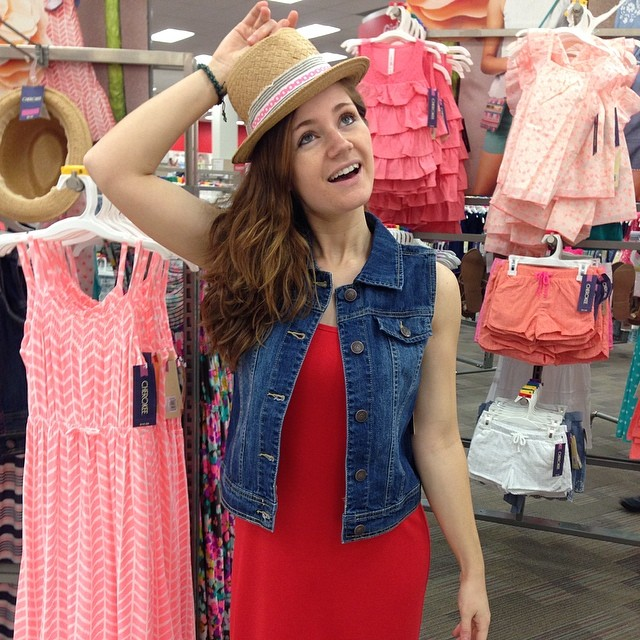 Shopping in the little girl's department. #boughtthevest