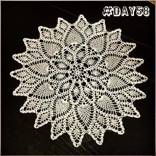 I love this #doily! #100happydays #uncinetto #crochet #nonnastyle
