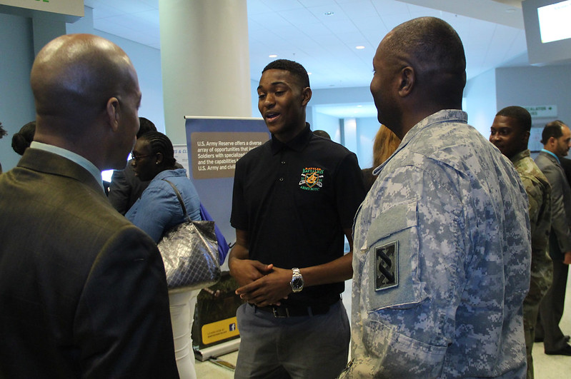 OPPORTUNITY THROUGH SERVICE: 143D ESC PROMOTES ARMY RESERVE