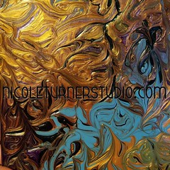 Love these colors!! #FineArt #HomeDecor #Gold #Metallic #Love #PaintingArtist #Painting #Purple