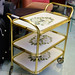 Retro tiered tea trolley on castors