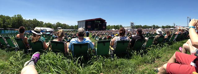 Bonnaroo 2013 - Panoramic from What Stage VIP seating.