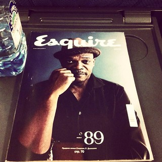 my friend samuel l jackson and esquire as usual. it means my trip started!