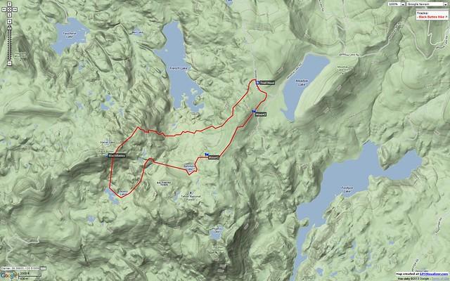 Black Buttes, Google Terrain Map #hiking #california