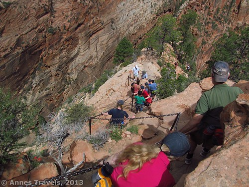 Climbing down from Angel's Landing, Zion National Park, Utah