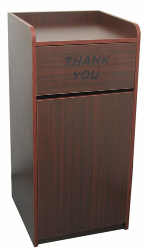 commercial restaurant trash receptacle quick ship laminated trash cabinet ebay. Black Bedroom Furniture Sets. Home Design Ideas