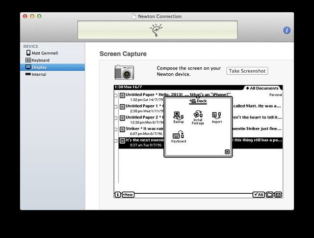 NCX Newton Connection utility for OS X