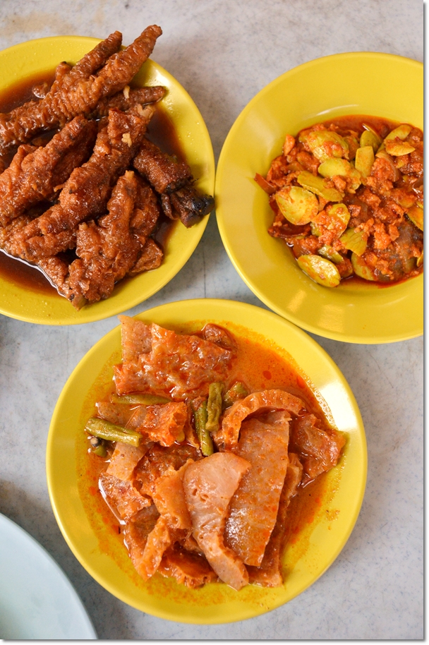 Chicken Feet, Sambal Petai, Curry Pig's Skin