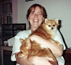 1998 Teresa with Shasta and Peanut