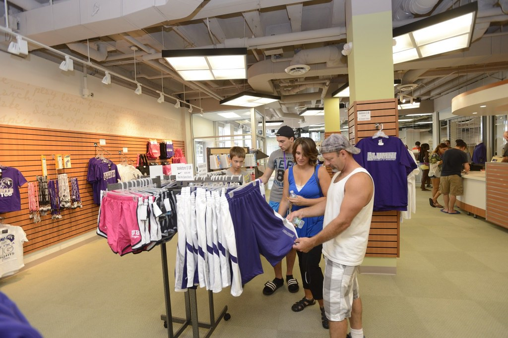. . .and everyone loaded up on spirit wear at the new bookstore located in Cox Student Center.