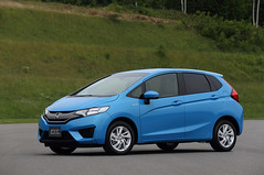 automobile, vehicle, honda, city car, honda fit, land vehicle,