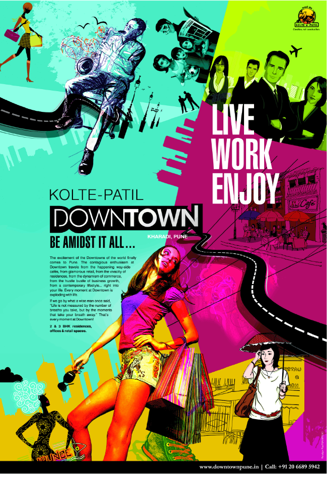 Kolte-Patil Downtown Kharadi Pune Launch Ad 1 (6-9-2013)