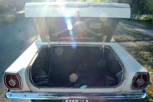 on the topic of The Enormousness of a 1965 galaxie 500 trunk.