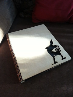 Laser cut notebook cover with living hinge