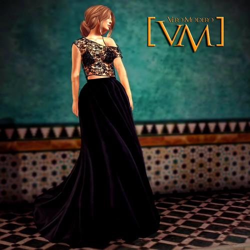 [VM] VERO MODERO  Ava Gown Baroq Lace