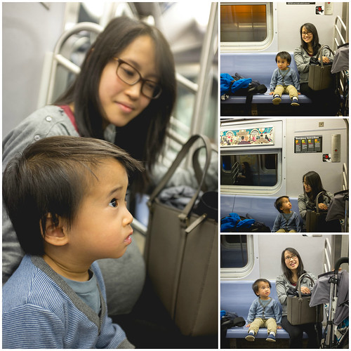 Riding on the Subway Train