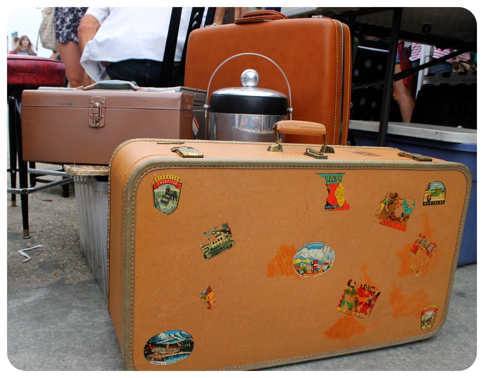 williamsburg flea market suitcases
