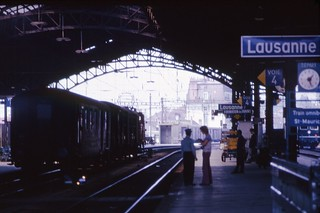 Railway station, Lausanne, August 1973 Scans715