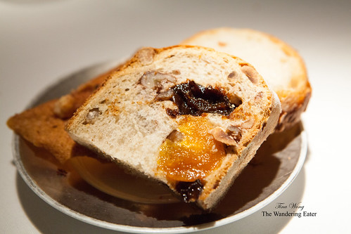 Housemade bread -dried fruit and nut and rustic white