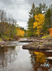 Autumn on the Sturgeon River, Michigan's Upper Peninsula by Michigan Nut